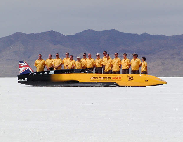 JCB DieselMAX Streamliner on the salt.