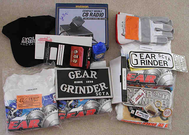 All the cool stuff we won at the anual Gear Grinder party.